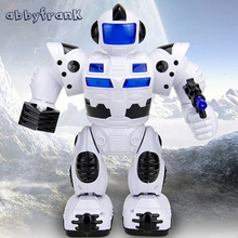 Abbyfrank Electric Robot Toys Musical Space Walking Dancing Robot Rotating Dancer Music Light Electronic Pets For Children Gifts
