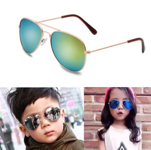 IVE New arrival Fashion brand boys and girls Sunglasses not fade metal Frame  UV400 Anti-Reflective Sun glasses wholesale 3026