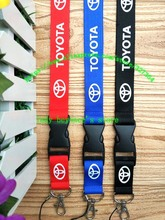 Free shipping 30pcs/lot TOYOTA car lanyards mobile phone neck key chains straps accessory L-1383