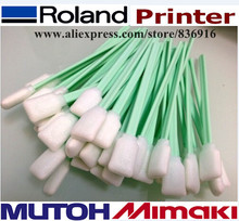 300 pcs Cleaning Swab swabs for Epson Solvent DX2 DX4 DX5 DTG / XAAR Printer Head Cleaning / clean tip swab(China)
