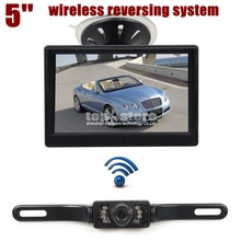 DIYKIT Wireless Car Van Truck Parking IR Night Vision Reversing Camera + 5 Inch Car Monitor Rear View Security System