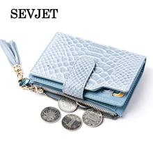2017 Genuine Real Leather Women Short Wallet Snakeskin Zipper Coin Purse Pocket Credit Card Wallet Female Purse Money Bags DR031(China)