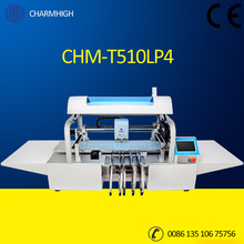New Upgrade LED 4 heads 8 feeder, 1.2m LED strip Pick and Place Machine CHMT510LP4, Moving Rail, Two cameras, Yamaha feeder(China)