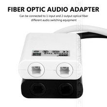 Black & White Dual Port Toslink Digital Optical one divide into two Audio patch cord Splitter Fiber Optic Audio Cable 1 In 2 Out(China)