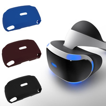 1 Pcs Soft-touch Silicone Rubber Case for PlayStation VR (PSVR) Virtual Reality Headset Red