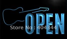 LK795- OPEN Guitars Band Rock n Roll LED Neon Light Sign(China)