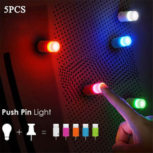 New Push Sucker One Touch Colorful 5 Colors Light Mini Sucker LED Night Lamp Toys Romantic Bar Light For Party Home Decoration