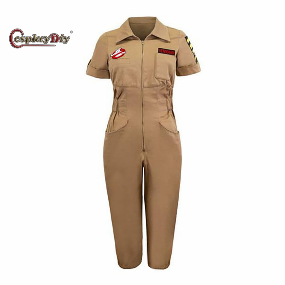 Cosplaydiy Ghostbusters Jumpsuit Adult Women Halloween Carnival Cosplay Costume Custom Made J5