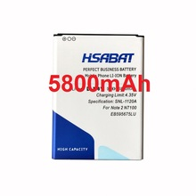 HSABAT 5800mAh EB595675LU Battery for Samsung Galaxy Note 2 N7100 E250 Note 2 LTE N7105 N7102 T889 L900 Verizon i605 note2