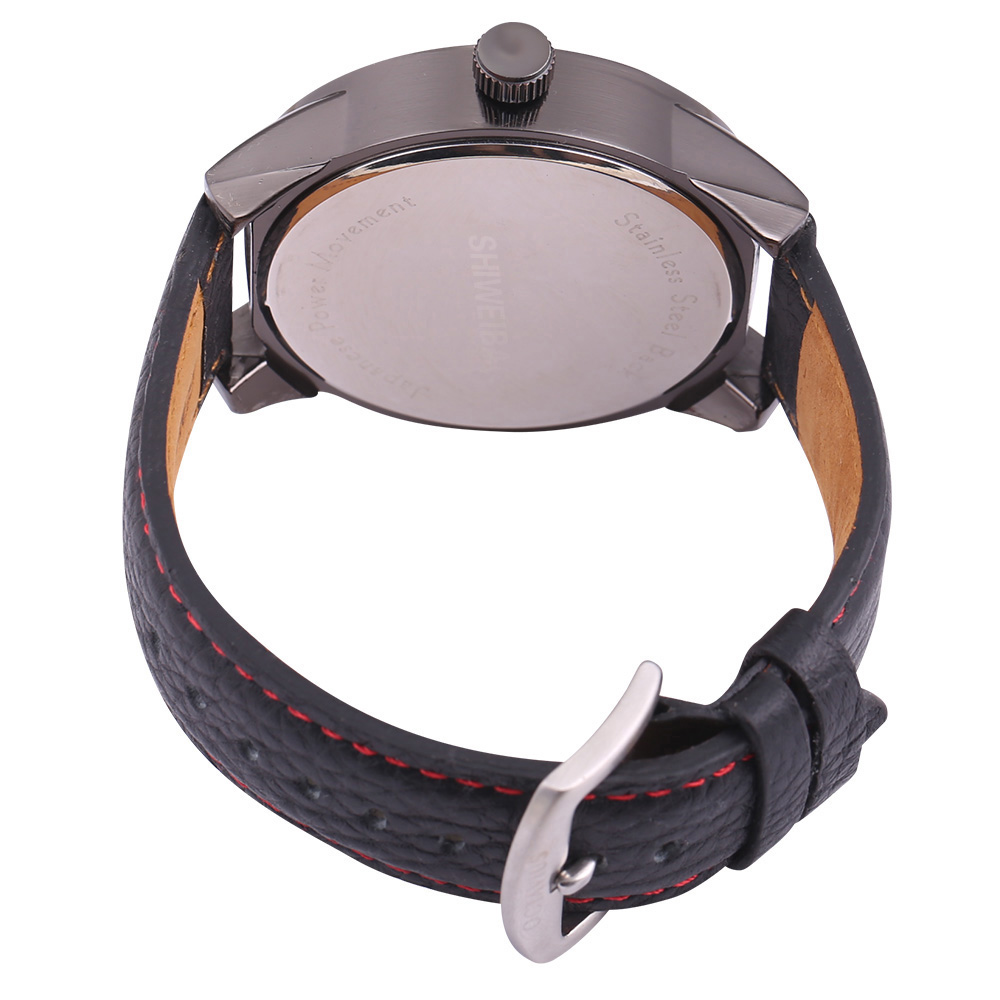 top luxury brand shiweibao three time zones watches for men analog quartz men watch black strap big case wristwatches clock man free shipping wholesale (5)