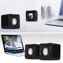 ONLENY USB DC 5V 3.5mm Audio Interface Stereo Mini PC Speaker Subwoofer Black For Desktop Laptop Notebook Tablet
