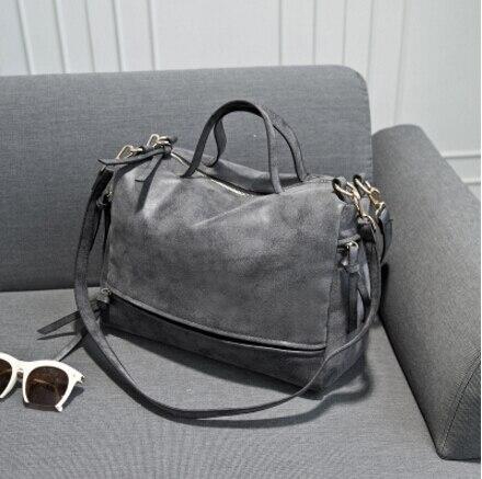 2017 womens handbag fashion vintage fashion nubuck leather motorcycle  big womens handbag cross-body shoulder bag<br>
