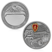 Coin Art 1PC 25th Infantry Division Army Commemorative Challenge Coin Collection Novelty Gift