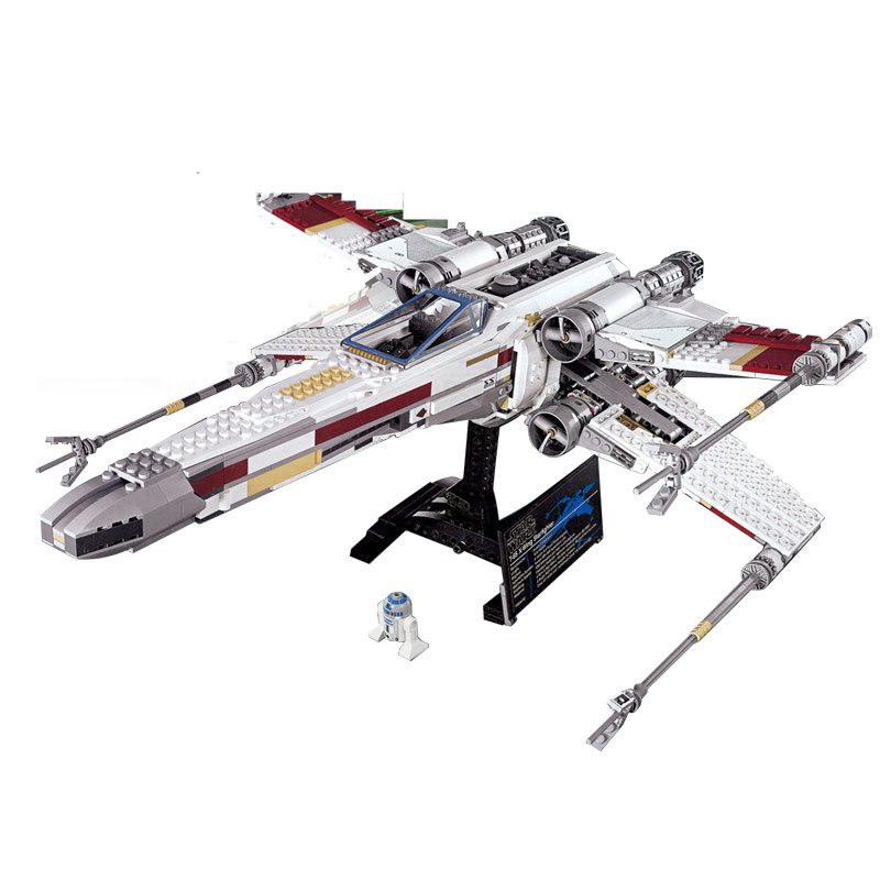 Diy Genuine Star Series Wars The X-wing Red Five Starfighter Building Blocks Compatible With Legoingly Bricks Toys For Children<br>