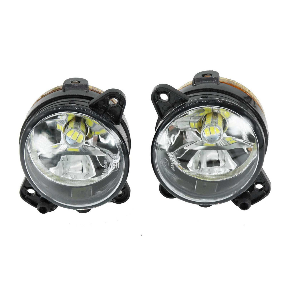 2Pcs Car-Styling Led Light For Skoda Fabia MK1 Facelift 2005 2006 2007 2008 Front Bumper LED Fog Lamp Fog Light<br>