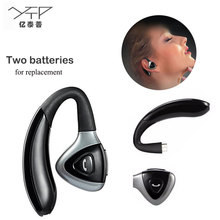 New YTP two battery replacement Bluetooth earphone bluetooth V4.1 wireless earphones business headset long time work headphones(China)