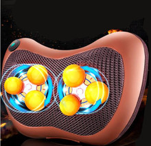6 Deep-Kneading 2 in 1 home car use electric neck traction shiatsu massager pillow shoulder pain relief infrared massage