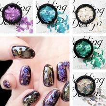 Bulk Selling DIY Nail Art Colorful Nail Art Decoration Sequins Shell Fragments Elegant Glitter 6 Color