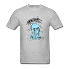 Plus Size Ink You Jelly Fish Head Screen Printing Tee Shirts Men Boy White Short Sleeve Custom Men T-shirt Family Clothes