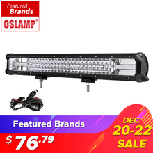 Oslamp 23inch 324W 3-row LED Work Light Bar Combo Beam Offroad Led Work Light 12v 24v Led Bar Driving Lamp Truck SUV ATV 4x4 4WD(China)