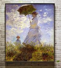 Free shipping Home Decorative claude monet oil painting - The Woman With The Parasol child in summer no frame(China)