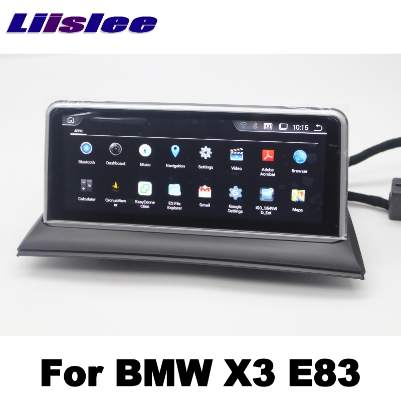 LiisLee For BMW X3 E83 2003~2010 Car Multimedia GPS Map 10.25Android Audio Hi-Fi Radio Stereo Original Style Navigation NAVI 6