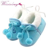 2 Styles Sweet Newborn Baby Girls Princess Winter Boots First Walkers Soft Soled Infant Toddler Kids Girl Footwear Shoes