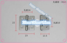 Hardware supplies 304 stainless steel hinge small box hinges 1 inch silver hinge  22mm*23mm*0.5mm