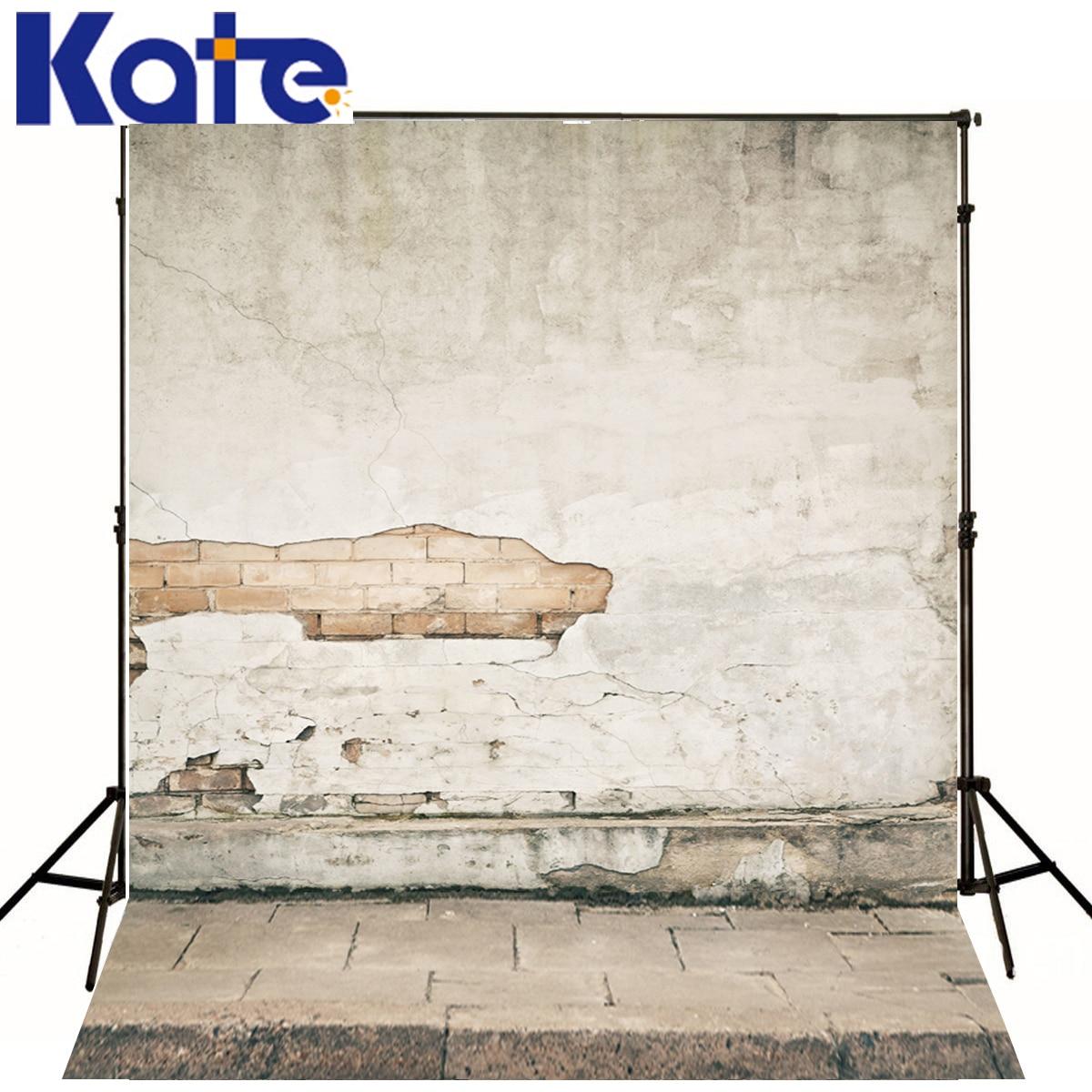 Kate Newborn Baby Backdrops Photography Broke Crack Brick Wall Fond Studio Photo  Stone Step Floor Studio Backdrop<br>