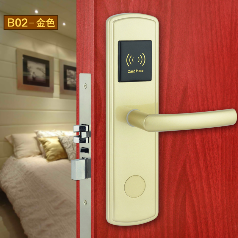 High class quality Radio Frequency Card Hotel electronic locks for hotels 8821<br>