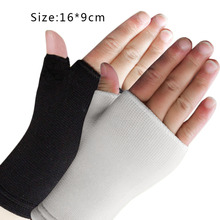 1 Pair Ultra Thin Breathable Man Woman Half Finger Gloves Elastic Wrist Supports hot Sale(China)