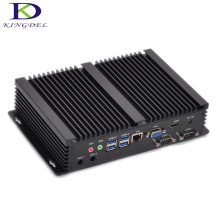 Fanless Industrial Mini PC Windows 10 Rugged ITX Aluminum Case Intel Core i7 5550u HTPC TV Box RS232 WiFi USB VGA Thin Client PC
