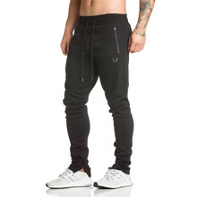 Buy Mens Brand Sweatpants fashion Leisure gyms Workout Fitness sportswear Pants Elastic cotton drawers trousers Joggers Track Pants for $18.35 in AliExpress store