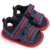 Baby Boys Sandals Newborn Kids Infant Toddler Canvas Soft Summer Shoes 0 to 18 Months(China)