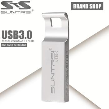 Suntrsi pendrive 64 gb usb 3.0 de alta velocidad usb flash drive de la capacidad verdadera pen drive 64 gb/32 gb/16 gb usb stick usb flash drive