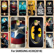 AKABEILA Case For Samsung Galaxy A5 2018 Cases Silicone TPU Soft Covers Duos with dual-SIM card slots A530F A530F/DS Superman(China)