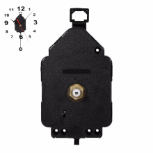 Classic Swing Mute Hanging Black Quartz Watch Wall Clock Movement Mechanism Parts Repair Replacement Essential Tools