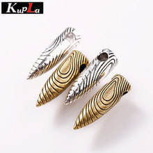 Kupla Vintage Metal Weapon Bullet Charms for Jewelry Making Fashion Diy Accessories Military Bullet Pendant Charms 7*28mm C6030(China)