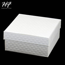 ZY-JPS001 Top Quality Royal Style Crystal Cut Lines PU Embossing Princess White Color  PACKAGING Jewelry BOX For Sets and Bangle