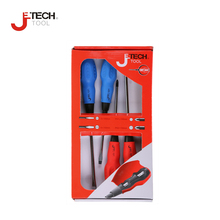 Jetech 4-piece standard professional cushion grip magnetic screwdriver set  tool soft-grip comfortable handle screw driver set