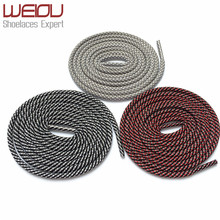 Weiou Round Type 3M Reflective shoelaces 3 colors mixed Magic Shoe laces glowing shoelaces checkered Shoestrings