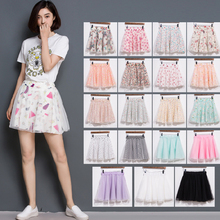 Buy 2018 New Summer Chiffon Empire waist Skirts ball pleated Elegant Sexy skirts Floral elastic Print Flower Mesh Short Mini skirt for $4.06 in AliExpress store
