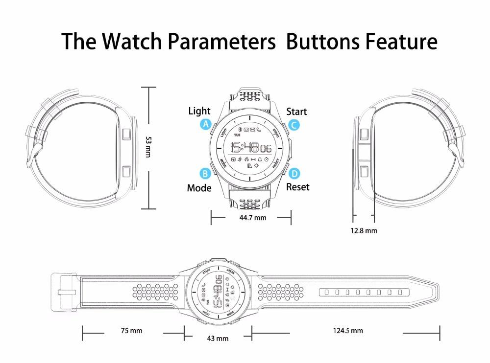LEMDIOE F3 Smart Band IP68 Waterproof Sports Smartwatch Activity Tracker Fitness bracelet with Pedometer Altimeter Barometer