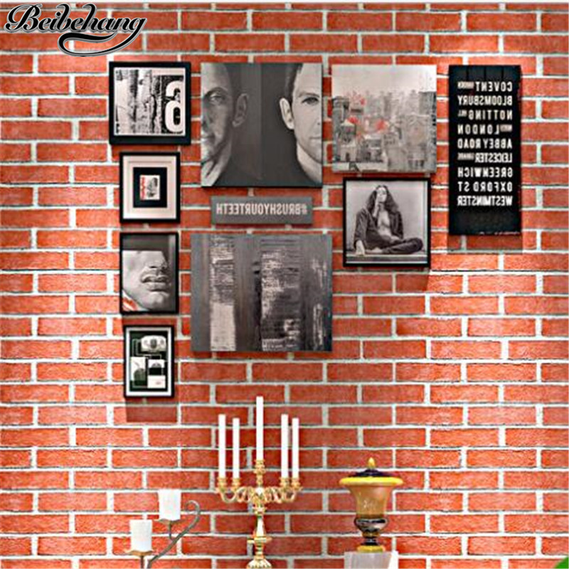 beibehang Thickening retro nostalgia brick tiles simple three-dimensional papel de parede wallpaper engineering brick wallpaper<br>