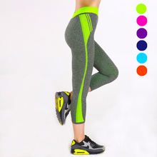 YWYBFS New Women Sport Pants Yoga Fitness Leggings Running Slim Gym Workout Pants Elastic Waist Qucik Dry Sportswear 6 Colours
