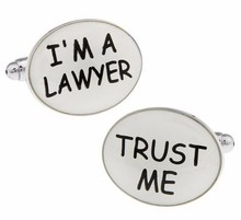 high-quality foreign trade cufflinks English i'm Lawyer modeling lawyer cufflinks men's style(China)