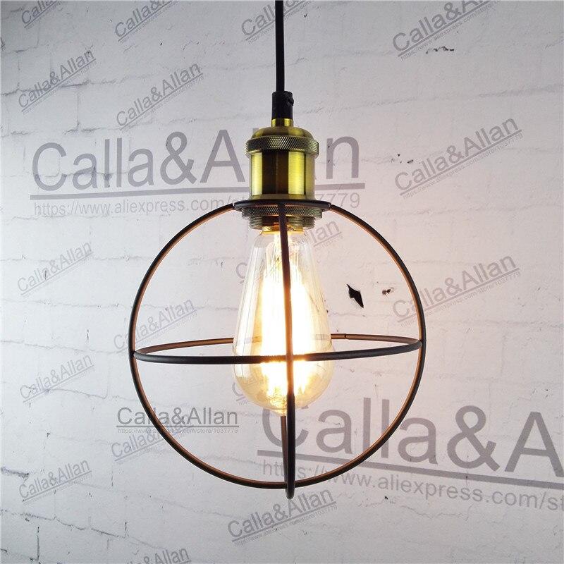 Black iron satellite cage lampshade pendant light E27 industrial edison pendant lamp retro loft lighting for hotel coffee shop<br>