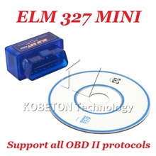 Mini ElM 327 ELM327 2.1 V2.1 OBD2 OBDII Bluetooth Interface OBD ii Car Auto Scanner Diagnostic Tool work on Android Windows