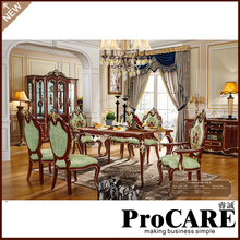 Buy procare olid wood dinning table set with 6 chairs