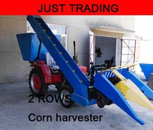 Farm working machine,2 rows combined corn harvester machine,harvesting machine